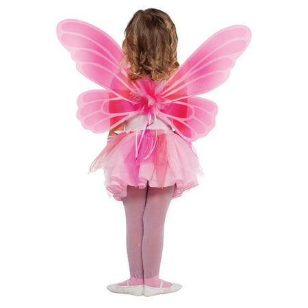 Pink Butterfly Fairy Wings Child Costume Accessory - Pretty Fairy Wings