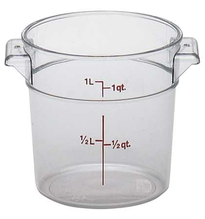 Round Container Use Lid, Clear, 12/PK CAMBRO CARFSCW1135