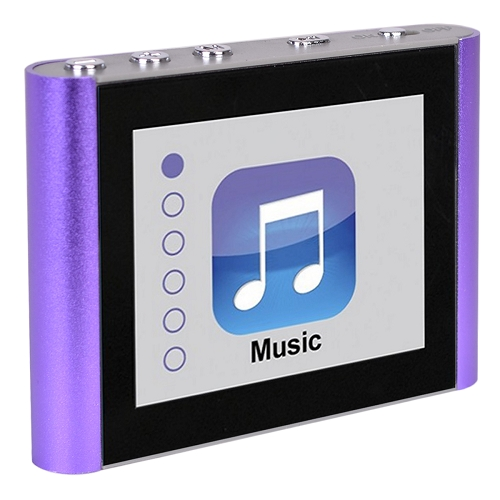 "Eclipse V180 8GB 1.8"" LCD Mini Compact MP3 MP4 Digital Music/Video Player-Purple"