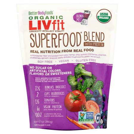 Betterbody Foods Organic Livfit Superfood Blend With Protein Reviews