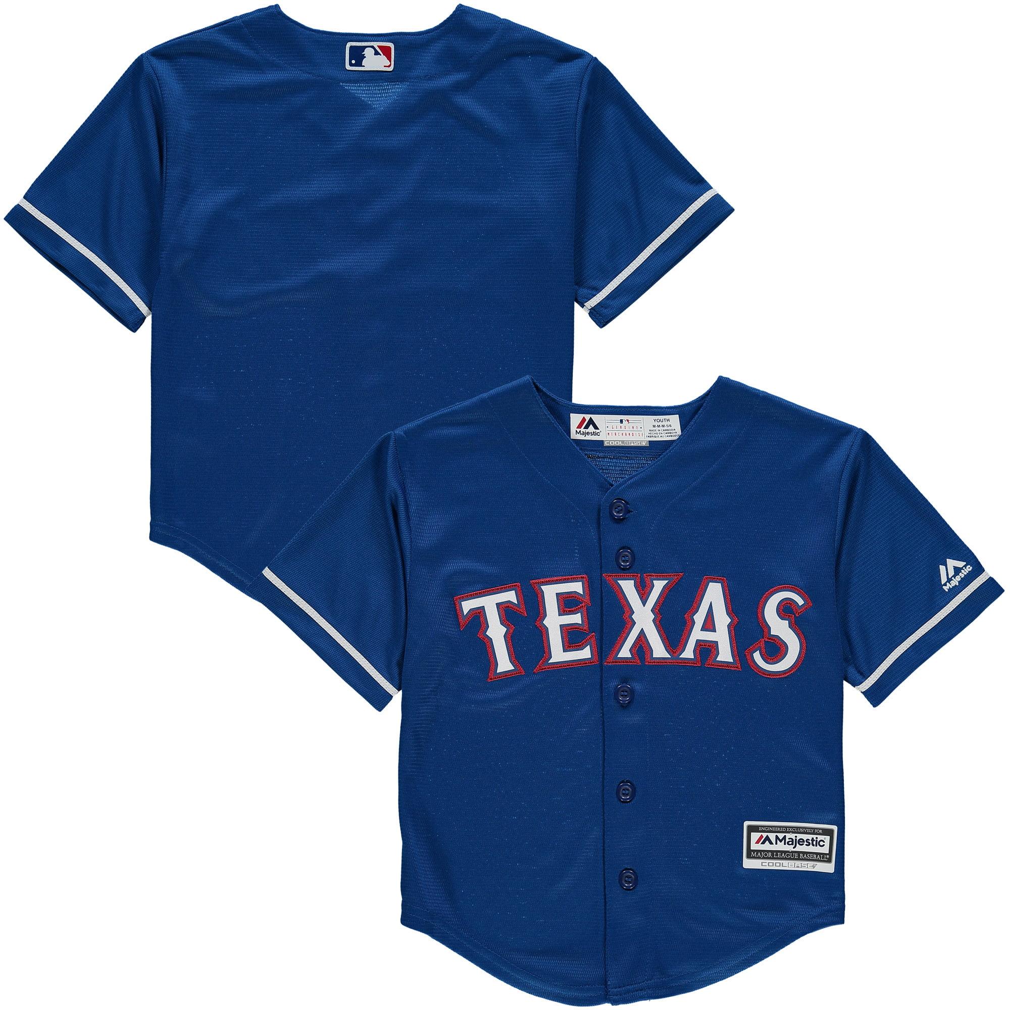 Texas Rangers Majestic Preschool Official Cool Base Team Jersey - Royal