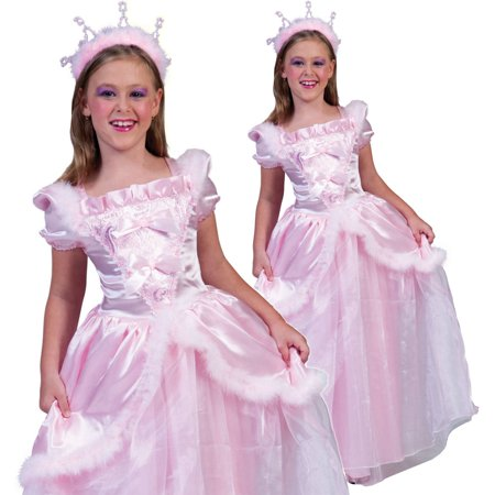 Funny Fashion Kids Girls Pink Princess Dress Halloween Costume Medium (Funny Punny Halloween Costumes)