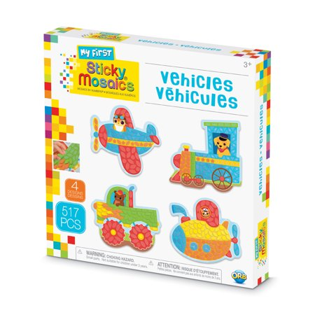 The Orb Factory My First Sticky Mosaics Vehicles Kit