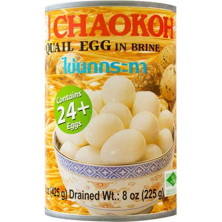 Chaokoh Quail Egg in Brine, 8 oz