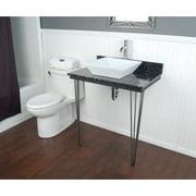D'Vontz Ceramic Square Vessel Bathroom Sink