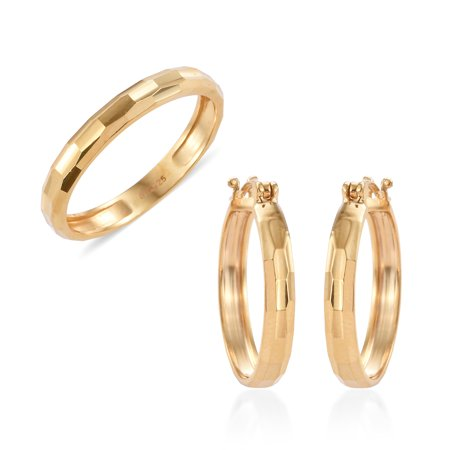 Shop LC - Ring Hoops Hoop Earrings Set 925 Sterling Silver ...