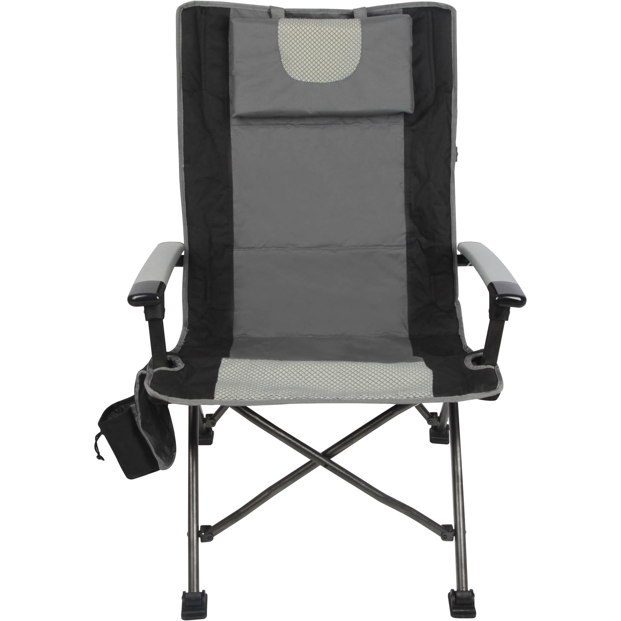 outdoor high back folding chair with headrest set of 2 comfortable camping seat ebay. Black Bedroom Furniture Sets. Home Design Ideas