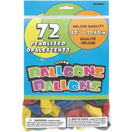 Pearlized Latex Balloons, 12 in, Assorted, 72ct](Pearlized Balloons)