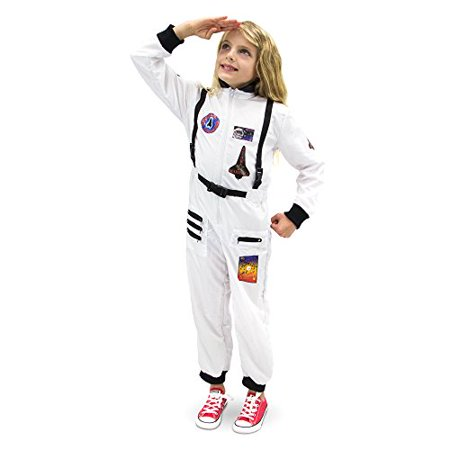 Boo! Inc. Adventuring Astronaut Children's Halloween Dress Up Roleplay Costume (Superhero White Costume)