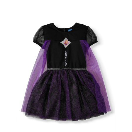 Disney Frozen 2 Anna Toddler Girl Roleplay Tulle Tutu Dress with Cape