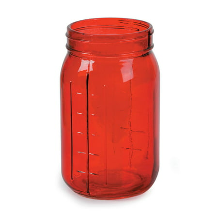 Darice Decorative Mason Jar: Transparent Glass, Red - Halloween Craft Jars