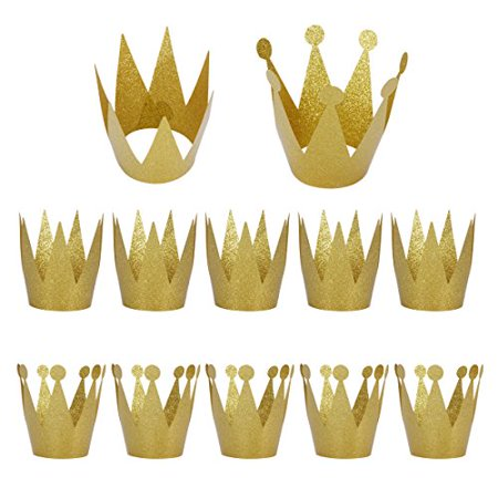 Birthday Party Hats 12 Pack Gold Birthday Crown Hats Kids And Adult Party Hats Party Decorations Crowns Supplies