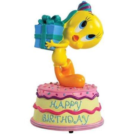 Incredible 5 5 Inch Happy Birthday Tweety Bird Looney Tunes Musical Figurine Funny Birthday Cards Online Kookostrdamsfinfo