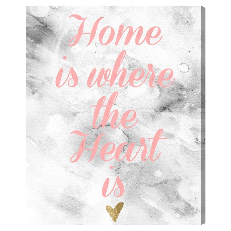 Oliver Gal The Wall Art is Home Canvas Wall Art