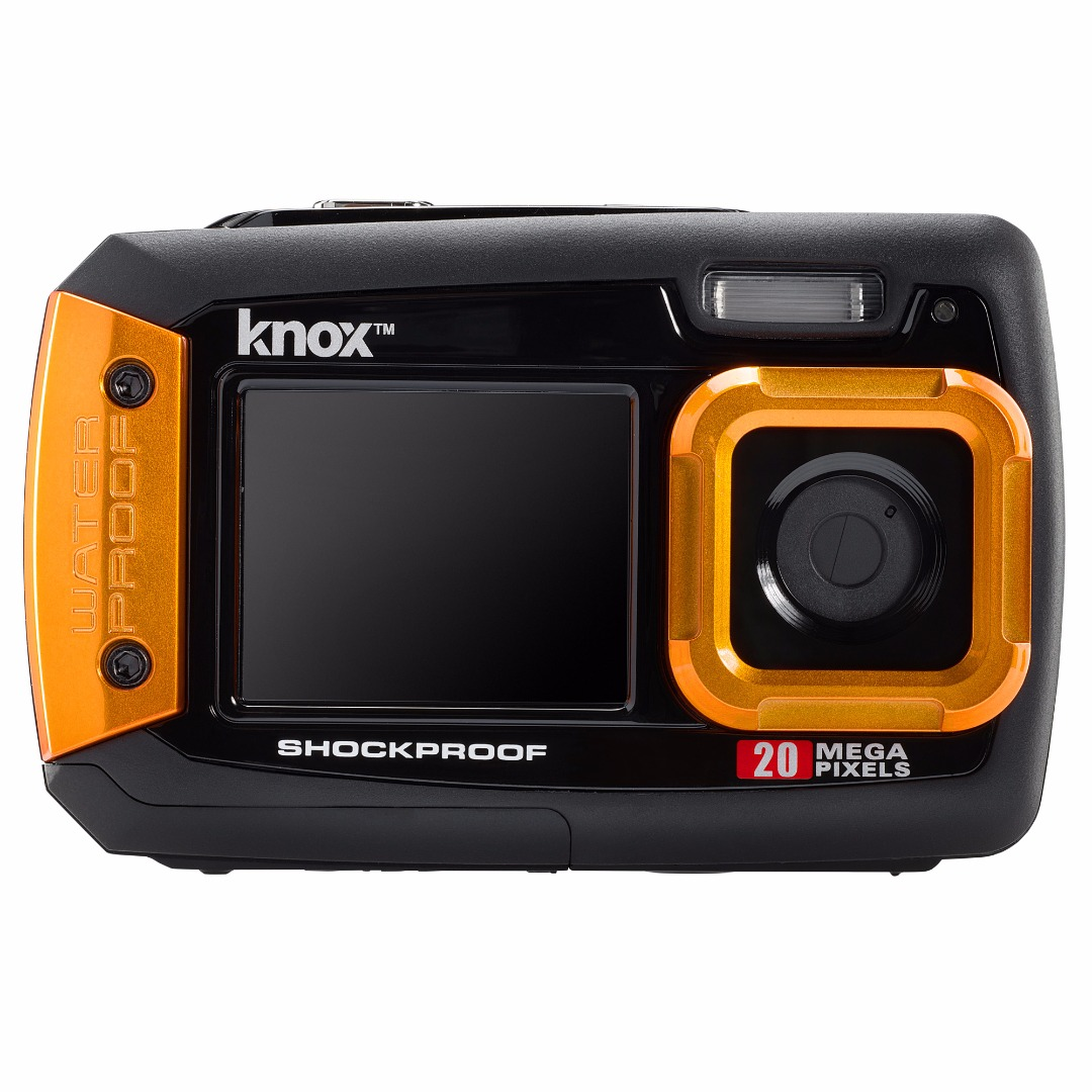 Knox Dual LCD Display 20MP Waterproof and Shockproof Camera (Orange)