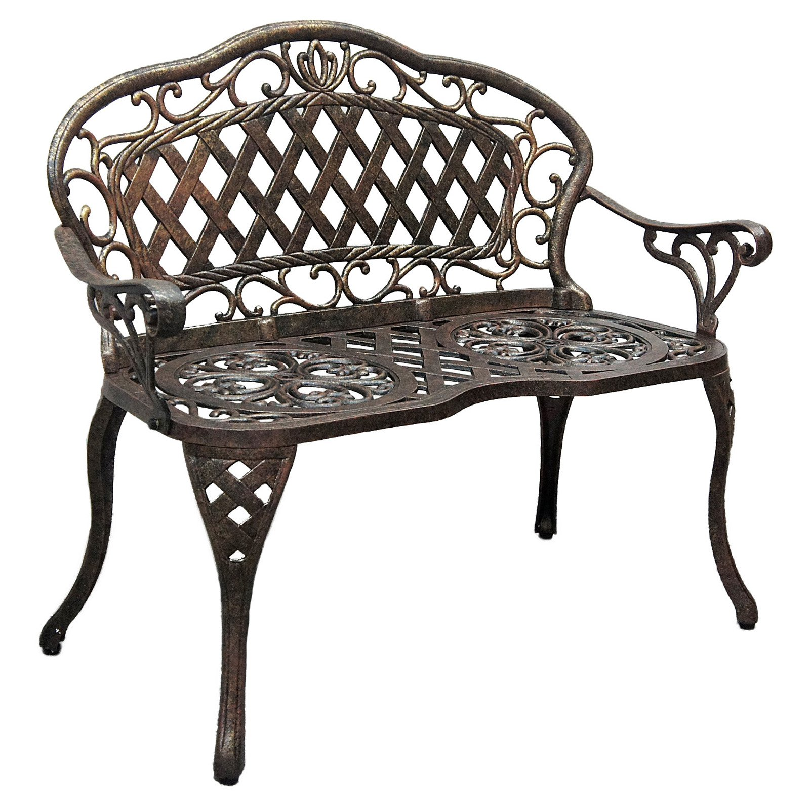 Innova Regis Loveseat Cast Iron/Cast Aluminum Outdoor Bench