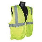 RADIANS SV25-2ZGM-2X High Visibility Vest, 2XL, Green, 30in., Zpr