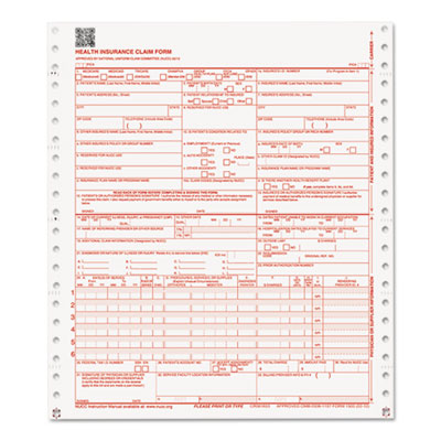 Paris Business CMS Forms, 1 Part Continuous White, 9 1/2 ...