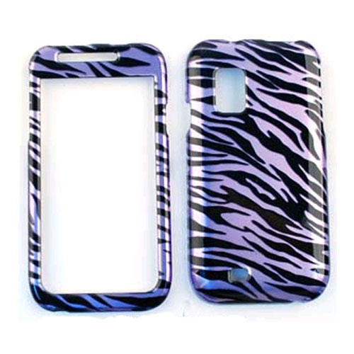 Cell Armor Snap-On Protector Case for Samsung I500 - Trans. Design, Purple Zebra