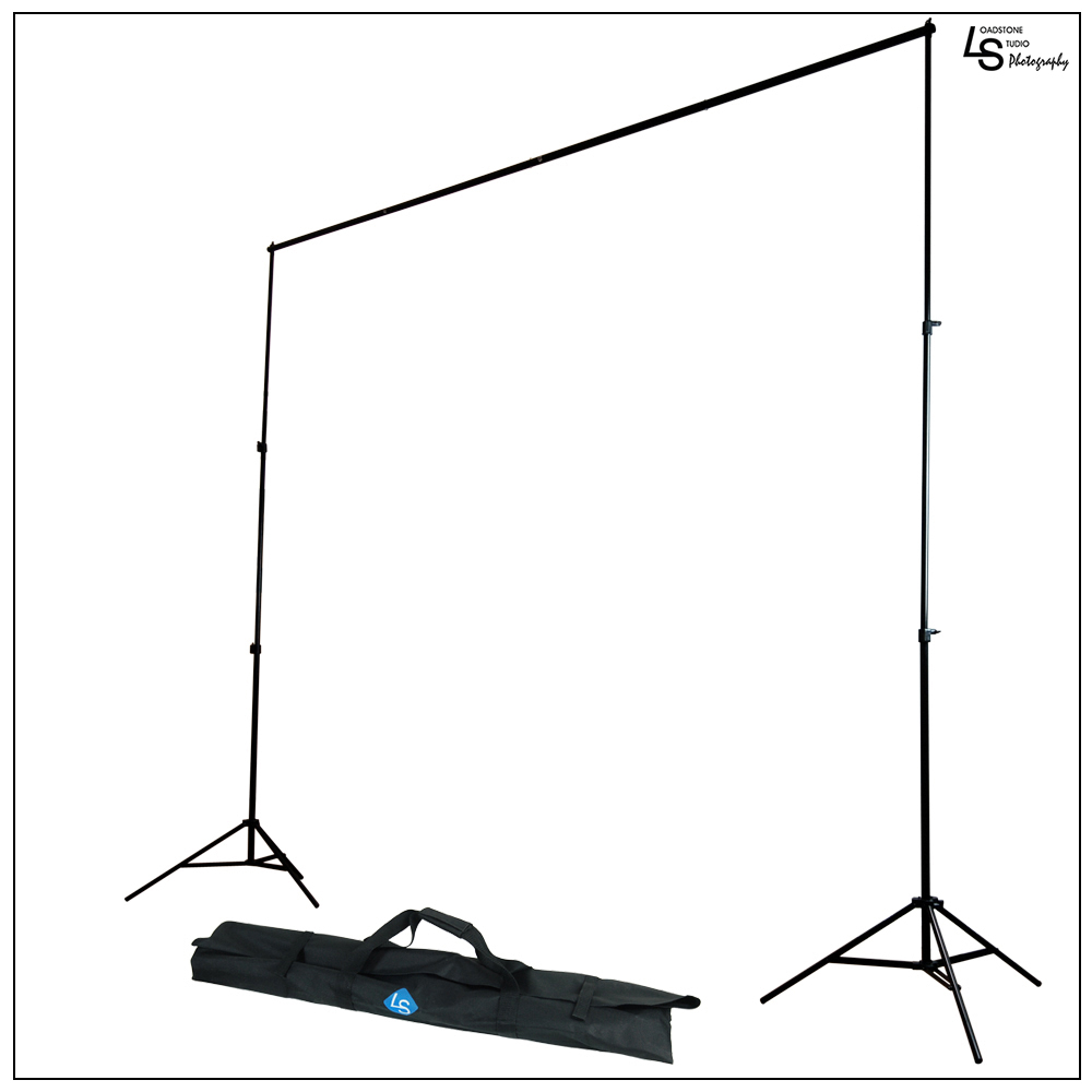 Loadstone Studio Photography Photo Studio 10' x 8' Background Stand Backdrop Support System Kit with 2PC Backdrop Holders, WMLS1443