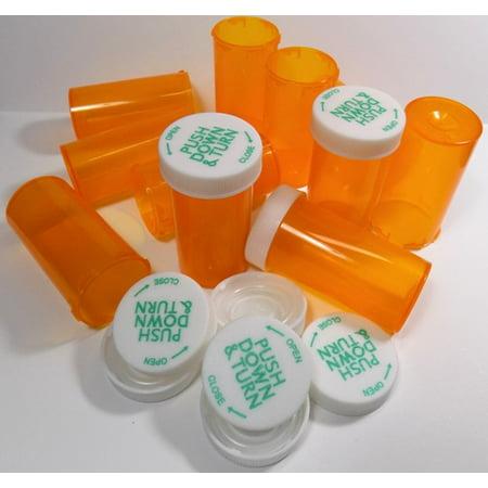 Shell Vials (RX Medicine Vials 8 Dram Clear Amber-25)