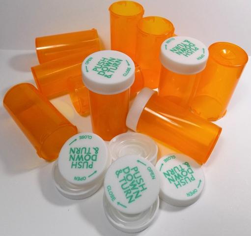 RX Medicine Vials 8 Dram Amber 400 Pack