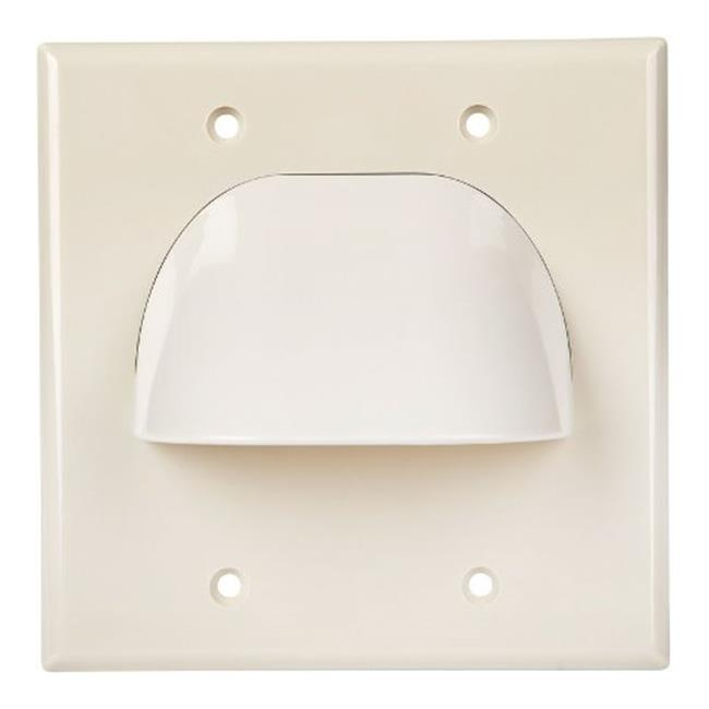 Monster 140680-00 2 Gang Home Theater Wall Plate  White - 2 Piece - image 1 de 1