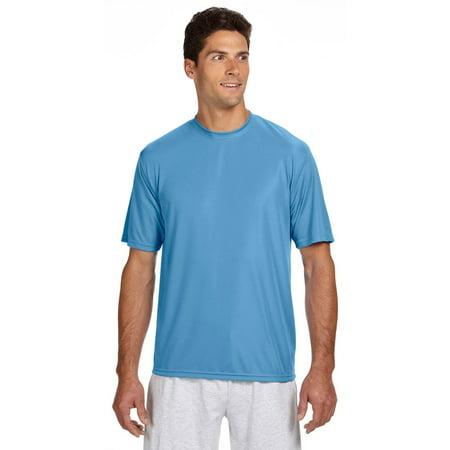 aee615341d72 A4 - Apparel N3142 S-S Cooling Performance Crew Neck T-Shirt - Light Blue -  Small - Walmart.com