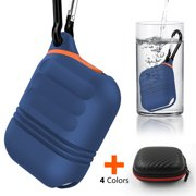Moretek Airpods Cover Case, Waterproof Carrying Cases for Apply AirPods Gift for Thanksgiving/Christmas/New Year/Birthday (Blue)