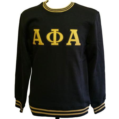 Buffalo Dallas Alpha Phi Alpha Crew Neck Mens Sweatshirt [Black - XL]