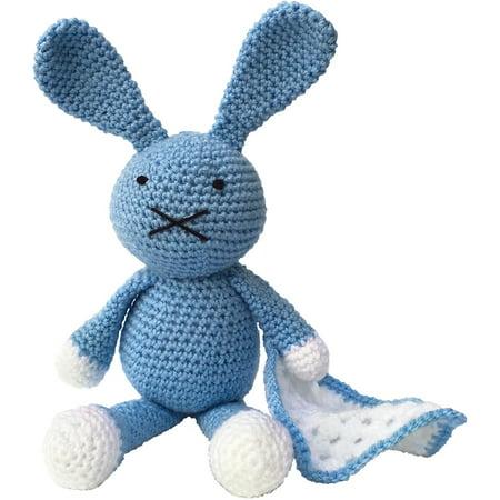 The Crafty Kit Co Crochet Kit Baby Blue Bunny Walmartcom