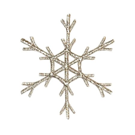 ID 8108 Snowflake Emblem Patch Winter Christmas Ice Embroidered Iron On (Iced Out Emz Emblems)