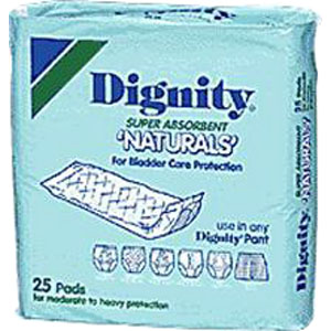 "Dignity Super Absorbent Natural Pad 4"" x 12"", Case of 175"