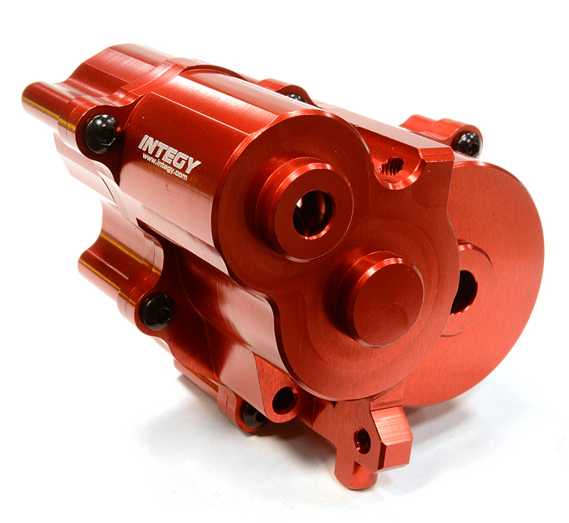 Integy RC Toy Model Hop-ups C25903RED Billet Machined Center Gear Box for Traxxas 1 10... by Integy