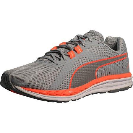 33cc17909 PUMA - Puma Women's Speed 500 Ignite Nightcat Quarry/Silver/Orange  Ankle-High Running Shoe - 7M - Walmart.com