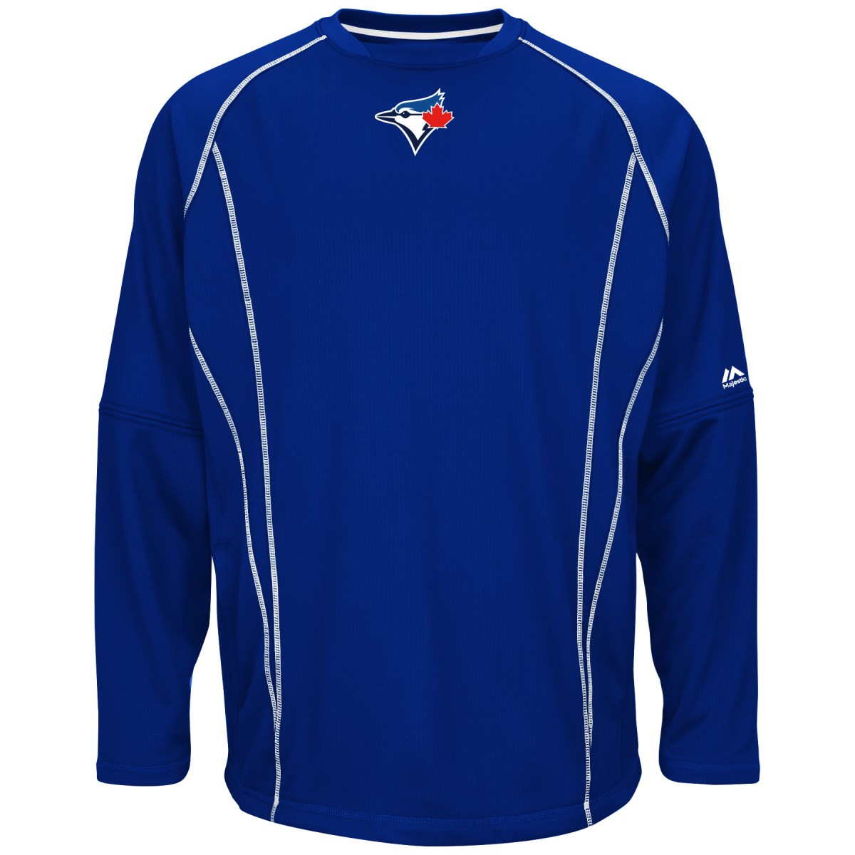 Toronto Blue Jays Majestic MLB Authentic On-Field Crew Pullover Sweatshirt
