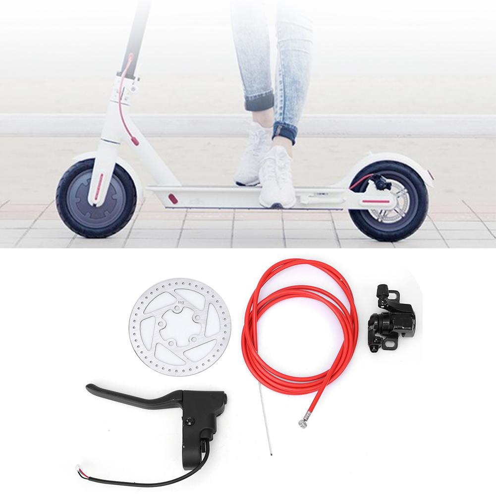Electric Scooter Disc Brake,Metal Disc Brake Device Set Brake Line Handle Electric Scooter Brake Accessories for Xiaomi M365 Electric Scooter Accessories Kit