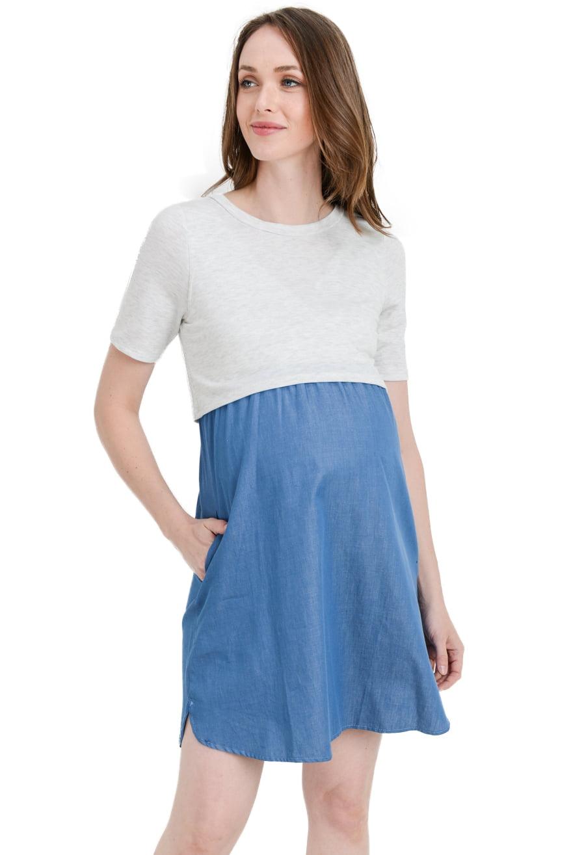 Laclef Laclef Women S Maternity Nursing Shift Dress With Side Pocket Walmart Com Walmart Com