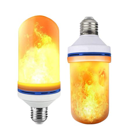 LED Flame Effect Fire Light Bulbs 4 Modes With Upside Down Effect Simulated Decorative Flickering Light Atmosphere Lighting Vintage Flaming Lamp (2 Pack)