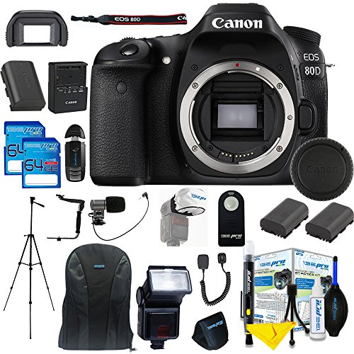 Canon EOS 80D DSLR Camera Body + 25 Piece Pixi-Pro Access...