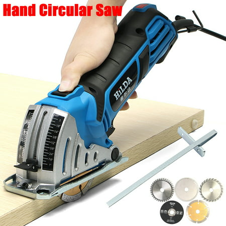 "500W Electric Circular Saw with 6 Blades(0.6""-3.4""), Laser Guide, 0-1.06"" Cutting capacity , Ideal for Glass Wood, Soft Metal, Tile and Plastic Cuts  - image 5 de 15"