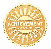 Hammond & Stephens Achievement Award Gold Foil Embossed Seal, Pack of 54