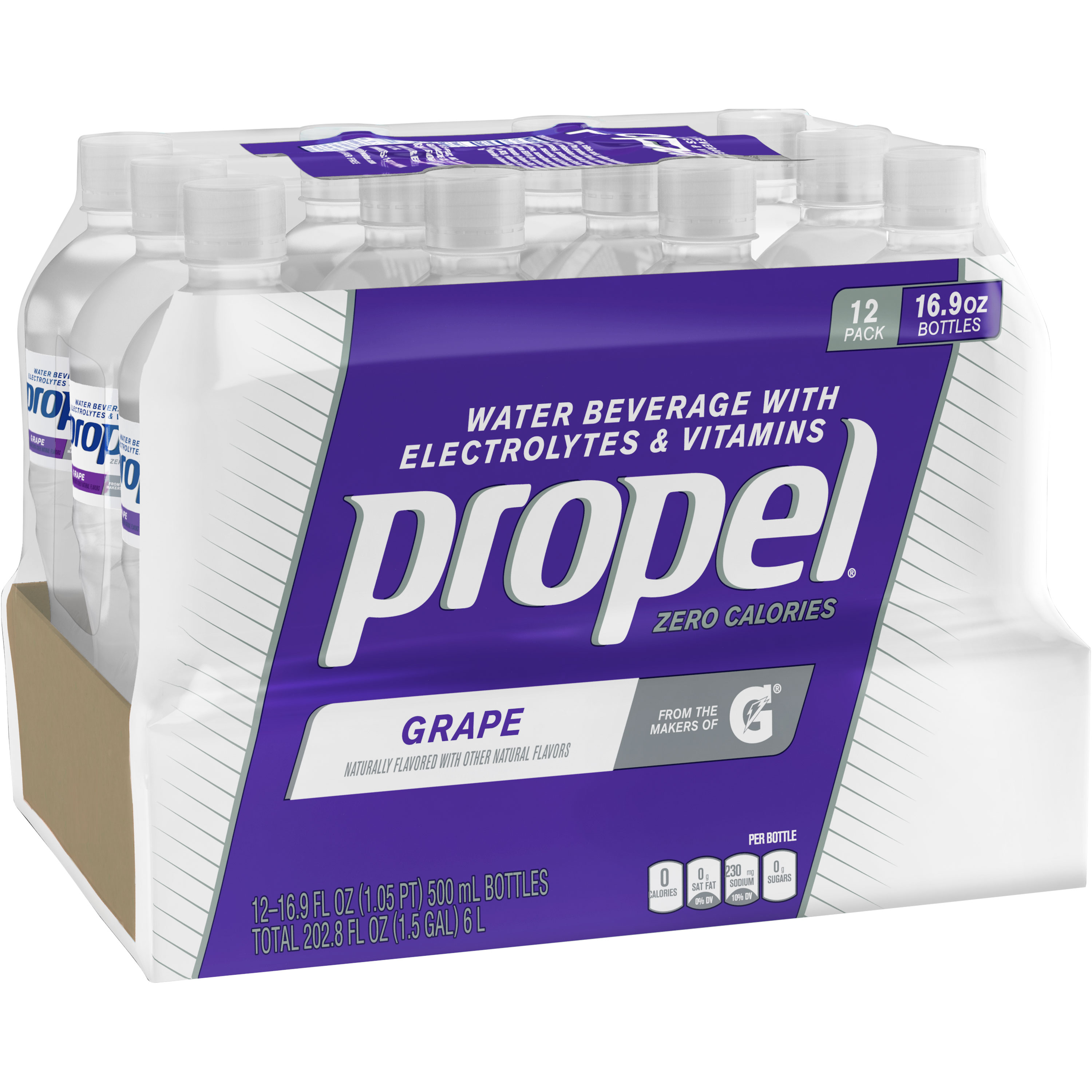 Propel Antioxidants Vitamin Enhanced Water, Grape, 16.9 oz