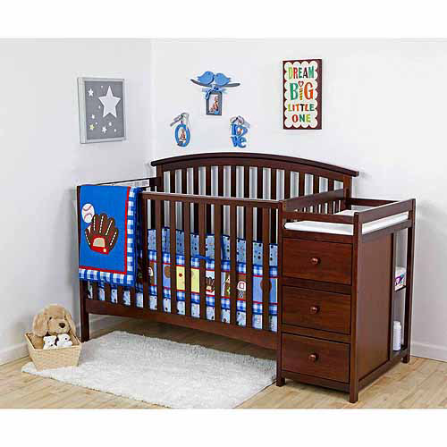 Dream On Me Niko 5-in-1 Convertible Crib with Changer, Espresso (Box 2 of 2)