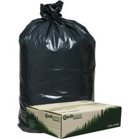Webster, WBIRNW1TL80, Low Density Recycled Can Liners, 80 / Carton, Black