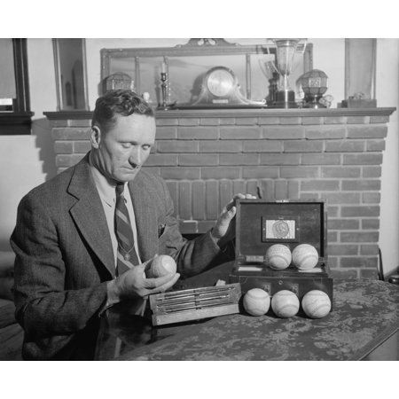 Retired Baseball Legend Walter Johnson With Souvenir Balls Signed By Six Presidents Theodore Roosevelt History Driver Legend Signed
