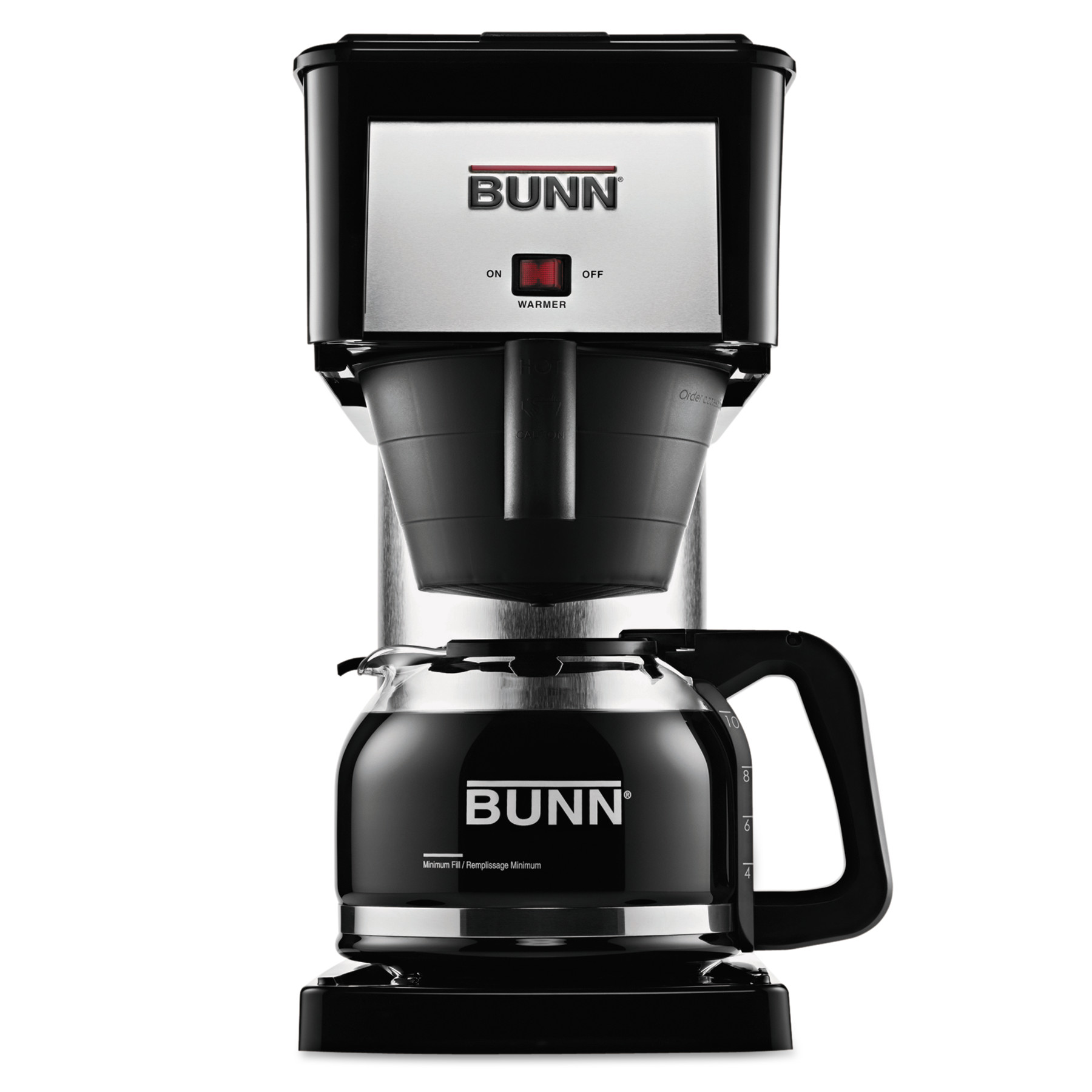 BUNN 10-Cup Velocity Brew BX Coffee Brewer, Black, Stainless Steel