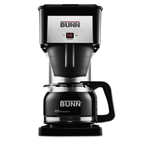 Bunn Commercial Iced Tea Maker - BUNN 10-Cup Velocity Brew BX Coffee Brewer, Black, Stainless Steel