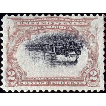 US Postage Stamp 1901 Nunited States 1901 Pan-American Expostition 2 Cent Postage Stamp With Inverted Center Rolled Canvas Art -  (24 x