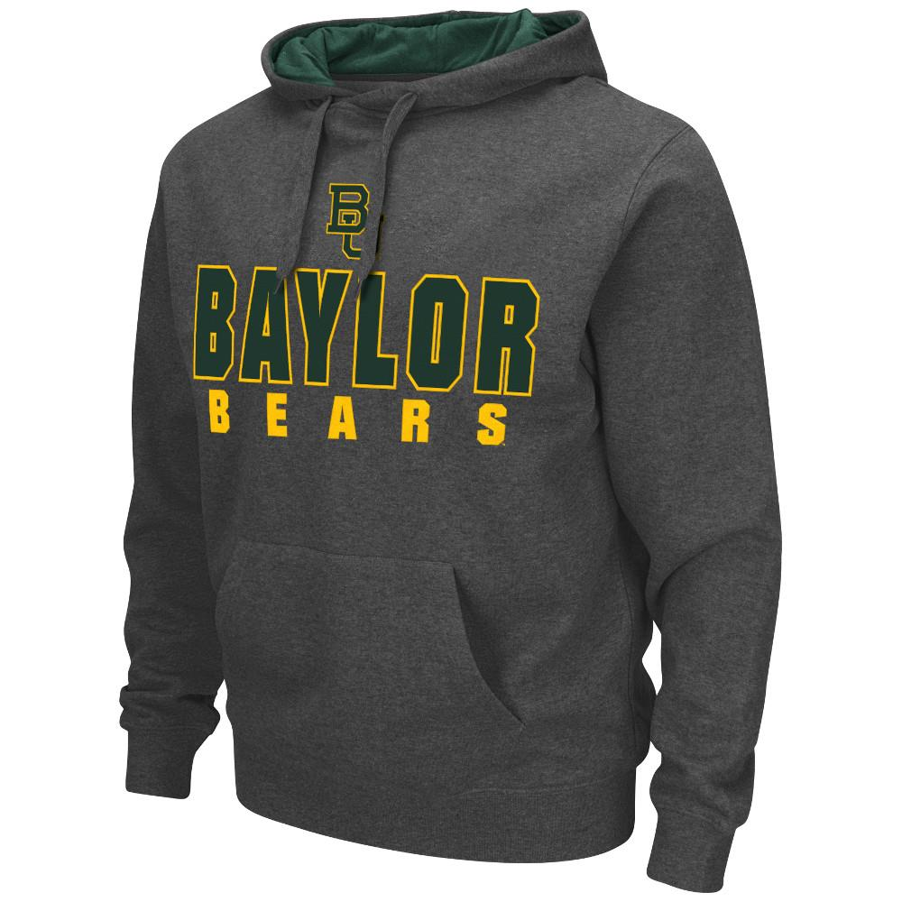 Mens NCAA Baylor Bears Pull-over Hoodie (Heather Charcoal)